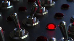在控制板的开关扳纽开关,红灯打开 股票视频