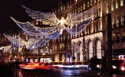 在摄政的街道上的圣诞节 图库摄影