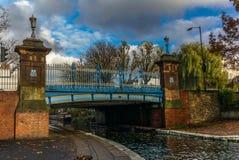 在摄政的` s运河的桥梁在一点威尼斯在伦敦 库存照片