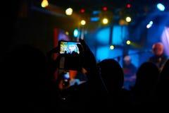 在摇滚乐音乐会的Tacke图片 库存照片