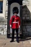 在摊附近的皇家卫兵身分 图库摄影