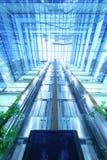 在摩天大楼北部塔的玻璃天花板 免版税库存照片