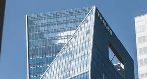 在摩天大楼泰利斯的特写镜头 免版税库存照片