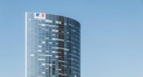 在摩天大楼的特写镜头 免版税库存图片