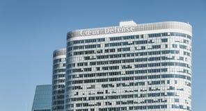 在摩天大楼COEUR防御的特写镜头 免版税图库摄影