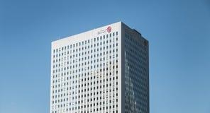 在摩天大楼ELIOR的特写镜头 免版税库存图片