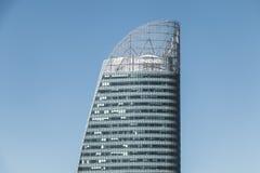 在摩天大楼ENGIE的特写镜头 库存照片