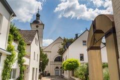 在摩泽尔德国欧洲的Mehring 免版税图库摄影