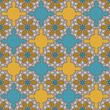 在摩洛哥样式的无缝的样式 库存例证