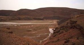 在山的火星的风景,摩洛哥 免版税库存照片
