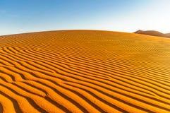 在摩洛哥的点心的沙丘由M `阿米德的 图库摄影
