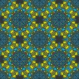 在摩洛哥阿拉伯样式的无缝的坛场样式 库存照片