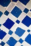 在摩洛哥非洲老瓦片和colorated集成电路摘要 免版税图库摄影