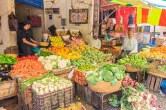 在摩洛哥souk的菜立场 库存照片