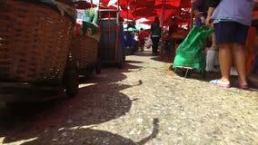 在摩洛哥souks的步行 股票录像