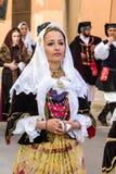 在撒丁岛服装的画象 图库摄影