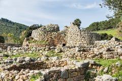 在撒丁岛海岛上的Nuraghe 免版税图库摄影