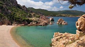 在撒丁岛的天堂海滩 免版税图库摄影