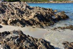 在撒丁岛的海岛上的夏天 库存照片