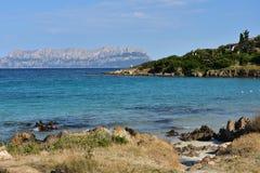 在撒丁岛的海岛上的夏天 库存图片