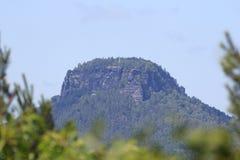 在撒克逊人的瑞士制表山从巴德尚道看见的Lilienstein 库存图片