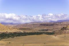 绿洲在撒哈拉大沙漠 免版税库存照片