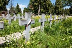 在擦亮剂苏维埃丧生的战士坟墓从191打仗 库存图片