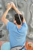 在攀岩的竞争 图库摄影