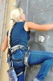 在攀岩的竞争 库存图片