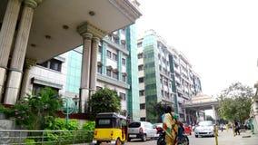在政府医院的外部射击视图金奈的,印度 股票视频