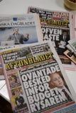 在政治危机的瑞典MEIDA _SWEDEN 免版税库存图片