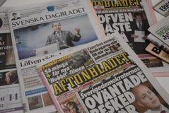 在政治危机的瑞典MEIDA _SWEDEN 图库摄影