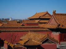 在故宫北京中国的屋顶 库存照片