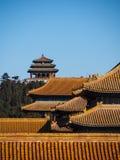 在故宫北京中国的屋顶 免版税图库摄影