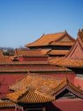 在故宫北京中国的屋顶 免版税库存照片