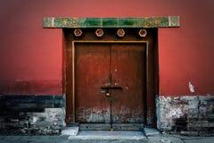 在故宫的门,北京,中国 图库摄影