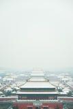在故宫的雪 库存图片
