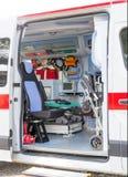 在救护车里面 免版税库存图片