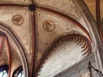 在教会圣塔玛丽亚gloriosa dei frari的圆屋顶 免版税库存图片