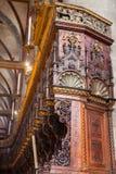 在教会圣塔玛丽亚gloriosa dei frari的椅子 免版税库存图片