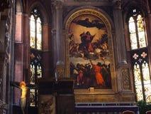 在教会圣塔玛丽亚gloriosa dei frari的绘画 免版税图库摄影