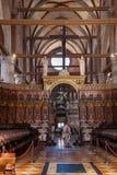 在教会圣塔玛丽亚gloriosa dei frari里面 免版税库存照片