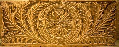 在教会墙壁的埃及基督徒艺术在埃及 库存图片