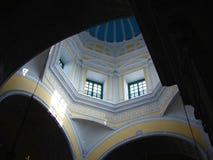 在教会尖顶里面 免版税库存图片