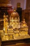 在教会Karlskirche模型的看法  图库摄影