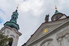在教堂的共济会的标志 普拉哈,捷克,欧洲 免版税库存图片