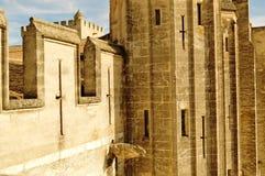 在教皇宫的屋顶上,阿维尼翁 库存照片