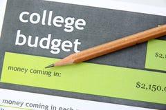 在教育文件的铅笔 免版税库存照片