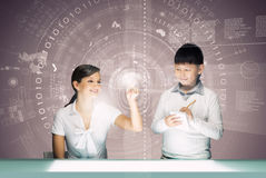 在教育的创新技术 免版税库存照片