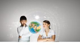 在教育的创新技术 图库摄影